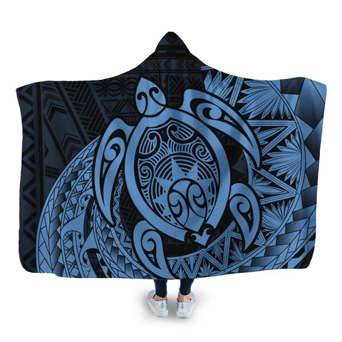 Hawaii Polynesian Turtle Hooded Blanket - Pastel - AH - J4R