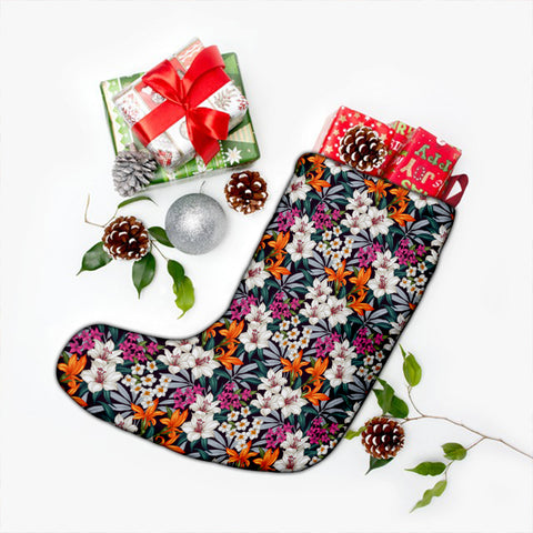 Hawaii Seamless Exotic Pattern With Tropical Leaves Flowers Christmas Stocking - AH - J4 - Alohawaii