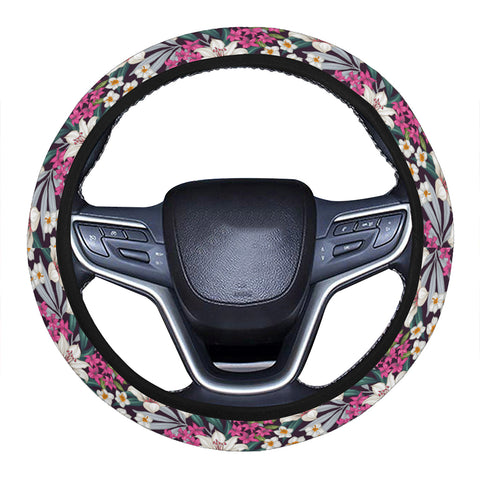 Hawaii Seamless Exotic Pattern With Tropical Leaves Flowers Hawaii Universal Steering Wheel Cover with Elastic Edge - AH - J6 - Alohawaii
