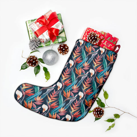 Hawaii Seamless Tropical Flower Hawaiian Summer Christmas Stocking - AH - J4 - Alohawaii
