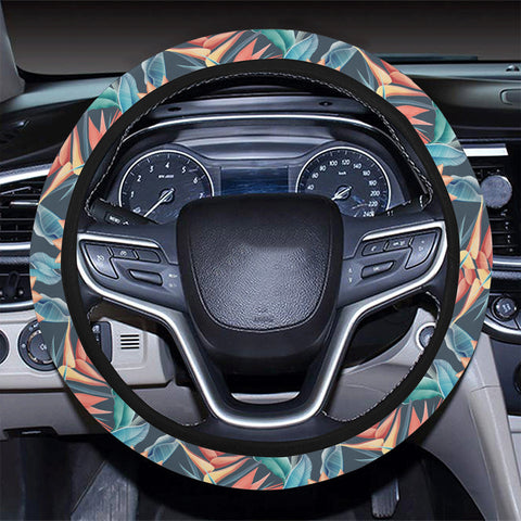 Hawaii Seamless Tropical Flower Hawaiian Summer Hawaii Universal Steering Wheel Cover with Elastic Edge - AH - J6 - Alohawaii
