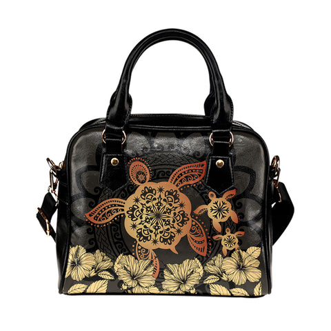 Hawaii Turtles Hibiscus Shoulder Handbag