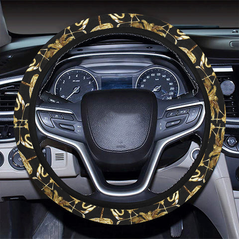 Hawaii Watercolor Flamingos Palm Trees Beautiful Seamless Hawaii Universal Steering Wheel Cover with Elastic Edge - AH - J6 - Alohawaii