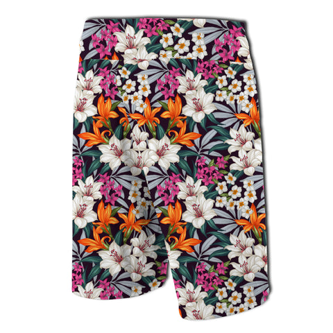 Hawaii Seamless Exotic Pattern With Tropical Leave Board Shorts - AH - J7 - Alohawaii
