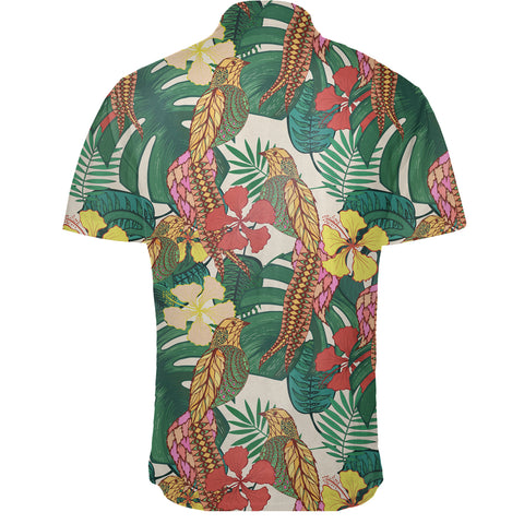 Image of Hawaiian Shirt -  Tropical Leaves Flowers And Birds Floral Jungle Shirt - AH - J7 - Alohawaii