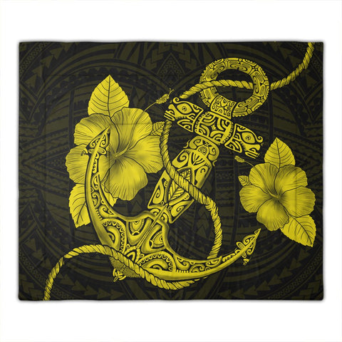 hawaiian-anchor-poly-tribal-hibiscus-polynesian-comforter-yellow