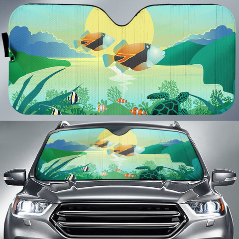 Hawaiian Fish Car Sun Shade AH K5 - Alohawaii