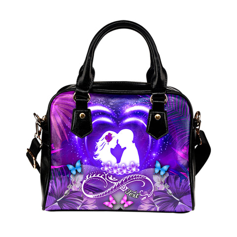 Hawaiian Couple Hibiscus Valentine Shoulder Handbag | Alohawaii.co