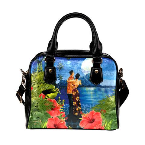 Hawaiian Lover - Couple Dancing Shoulder Handbag | Alohawaii.co