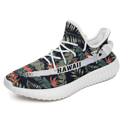 Hawaiian Sneakers YZ Tropical Strelitzia Black - Alohawaii