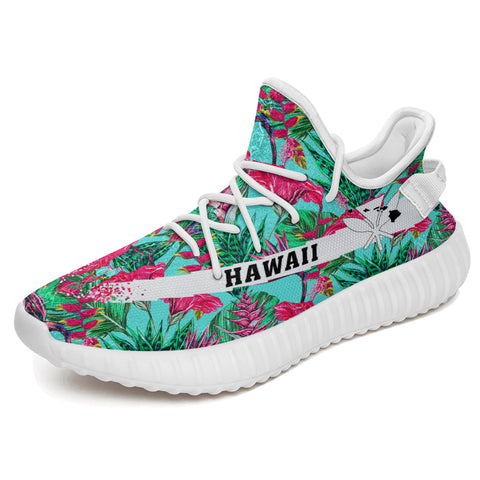 Hawaiian Sneakers YZ Tropical Strelitzia Blue - Alohawaii