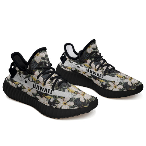 Hawaiian Sneakers YZ Tropical Toucans Hibiscus Palm Leaves - Alohawaii