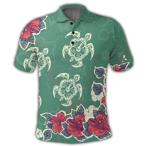 Hawaiian Turtle And Colorful Hibiscus Polynesian Polo Shirt - AH - JR | Alohawaii Store | Hawaiian Polo Shirt Hawaiian Polo Shirt - Hawaii Polo Shirt For Men - Hawaii Polo Shirt For Women - Hawaii Polo Shirt For Kane - Hawaii Polo Shirt For Wahine