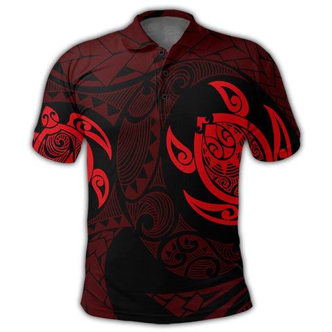 Image of Hawaiian Two Turtle Polynesian Polo Shirt Red AH - J7R | Alohawaii Store | Hawaiian Polo Shirt Hawaiian Polo Shirt - Hawaii Polo Shirt For Men - Hawaii Polo Shirt For Women - Hawaii Polo Shirt For Kane - Hawaii Polo Shirt For Wahine