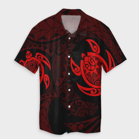 Hawaiian Two Turtle Polynesian Hawaiian Shirt Red AH - J7R - Alohawaii