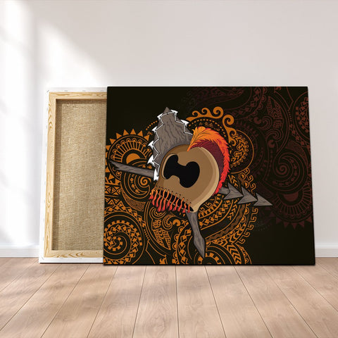 Hawaiian Warrior Helmet Kanaka Polynesian Canvas - AH - JGR