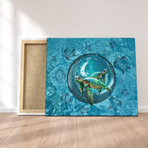 Hawaiian Whirlpool Turtle Polynesian Canvas - AH - A0