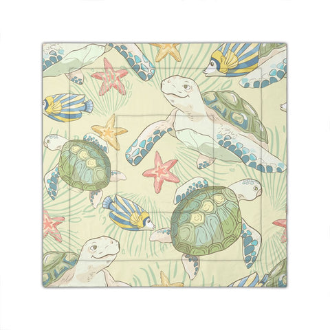 Hawaiian World Animals In Sea Comforter - AH - JRC