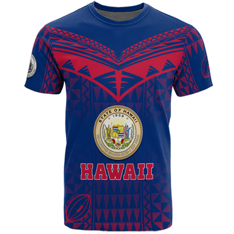 Personalized Hawaii Polynesian Coat Of Arms T-shirt Tribal Style Front