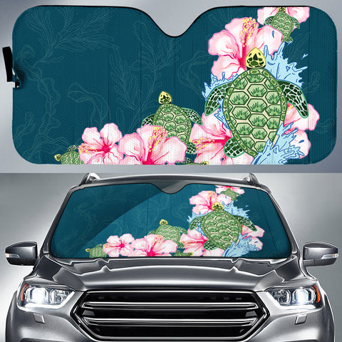 Hibiscus Turtle Dance Car Sun Shade AH J1 - Alohawaii