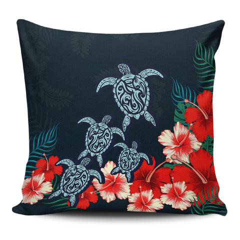 Hibiscus And Turtle Skillful Pillow Covers - AH - J1 - Alohawaii