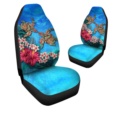 Hawaii Turtle Couple Car Seat Cover