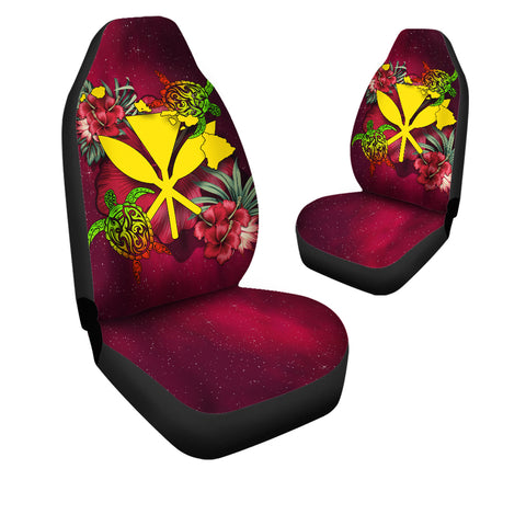 Kanaka Map Turtle Hibiscus Car Seat Cover