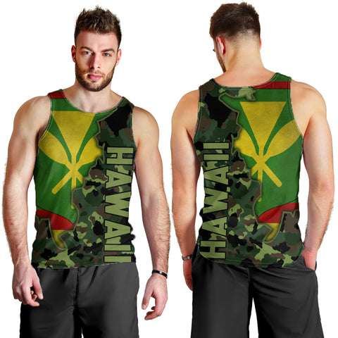 Image of Kanaka Flag Camo Pattern Tank Top - Chad Style
