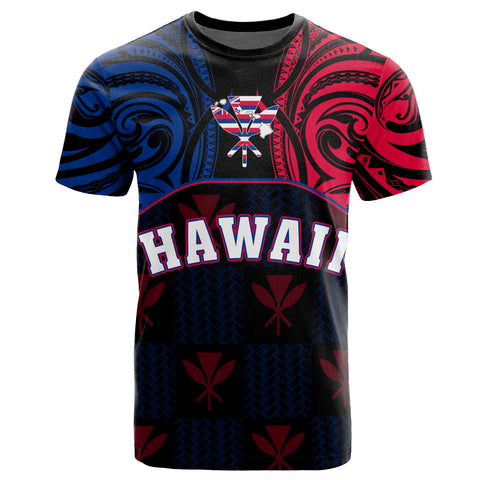 Hawaiian Kanaka T-Shirt Flag Nation Black Demodern AH J1 - Alohawaii