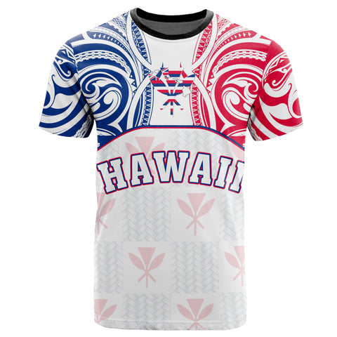 Hawaiian Kanaka T-Shirt Flag Nation Demodern White AH J1 - Alohawaii