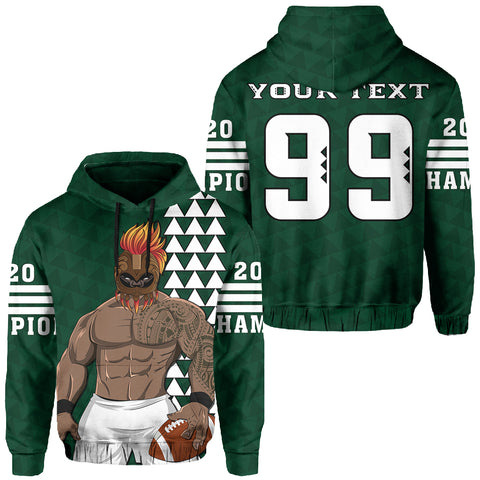 Personalize - Hawaii Warrior Football Hoodie 2020 Champion