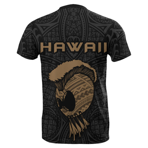 Image of Hawaii Helmet Polynesian Kanaka Warrior T-shirt - AH - J4 - Alohawaii