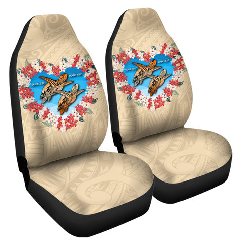 Hawaii Turtle Hibiscus Polynesian Valentines Car Seat Cover