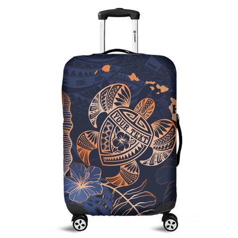 Personalized - Hawaii Polynesian Aloha Po Turtle Hibiscus Tropical Luggage Covers - Special Edition - AH - J6C