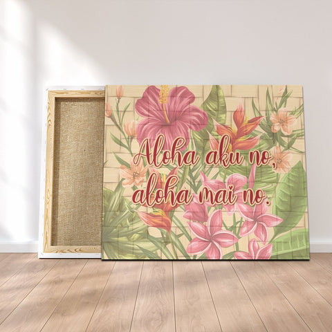 Hawaii Tropical Hibiscus Plumeria Canvas - AH - J4C