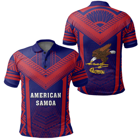 Image of American Samoa Coat Of Arms Polynesian Polo Active