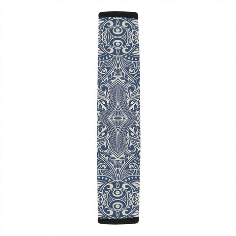 Polynesian Culture Blue White Hawaii Car Belt Pads - AH - J4 - Alohawaii