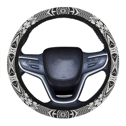 Polynesian Kakau Turtle Hawaii Steering Wheel Cover with Elastic Edge - AH - J6 - Alohawaii