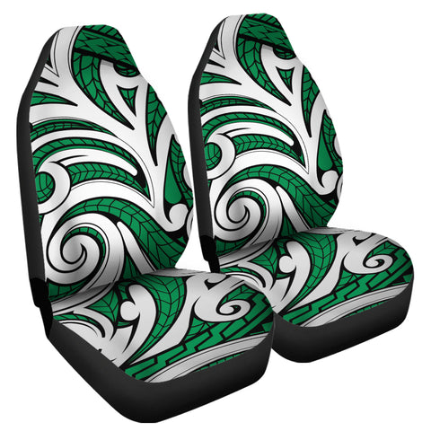 Polynesian Maori Ethnic Ornament Green Car Seat Cover - AH - J6 - Alohawaii