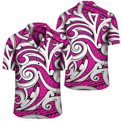 Polynesian Maori Ethnic Ornament Pink Hawaiian Shirt - AH - J1 - Alohawaii