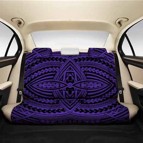 Image of Polynesian Seamless Violet Back Seat Cover - AH - J4 - Alohawaii