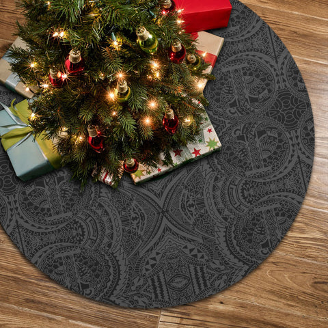 Polynesian Symmetry Gray Tree Skirt