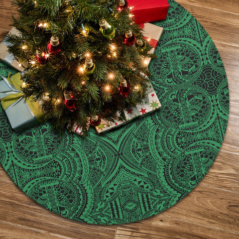 Polynesian Symmetry Green Tree Skirt