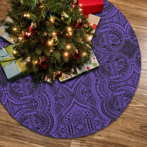 Polynesian Symmetry Violet Tree Skirt