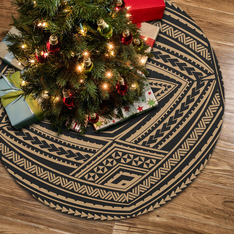 Image of Polynesian Tatau Gold Tree Skirt