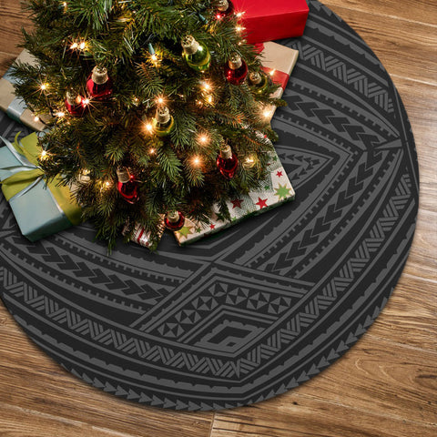 Image of Polynesian Tatau Gray Tree Skirt
