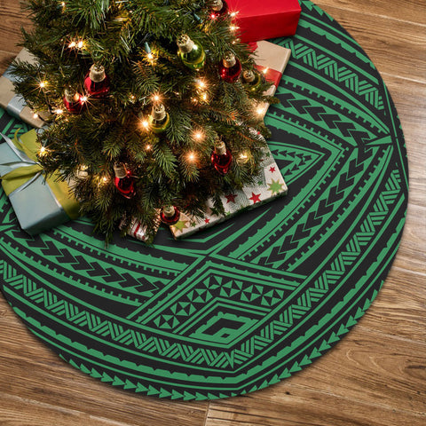 Image of Polynesian Tatau Green Tree Skirt
