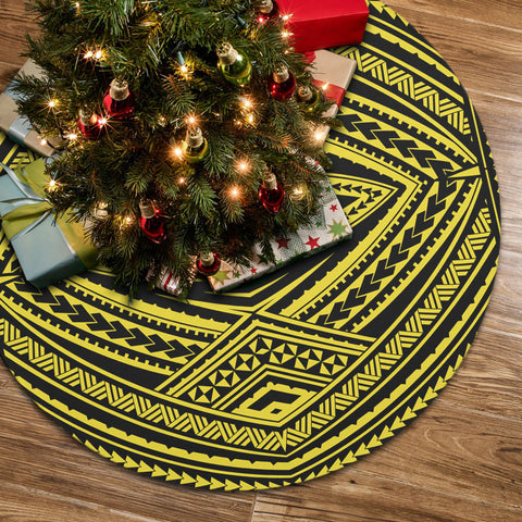 Image of Polynesian Tatau Yellow Tree Skirt