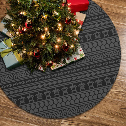 Polynesian Tattoo Tribal Gray Tree Skirt