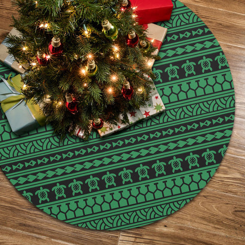 Polynesian Tattoo tribal Green Tree Skirt